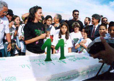 Manifestação pelos 11 anos do PL Mata Atlântica | Foto: Miriam Prochnow.