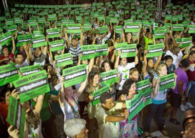 Campanha pelo Código Florestal.