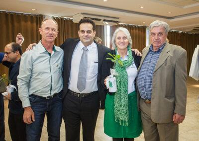 Edegold Schaffer, da Apremavi; Rodrigo Coutinho, Miriam Prochnow e Zuba Coutinho. Foto: Marcos Campos.