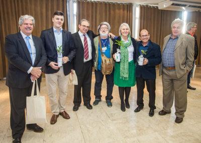 Personalidade Ambiental do Prêmio Expressão, Miriam Prochnow foi a mais procurada para fotos ao final do evento. Foto: Marcos Campos.