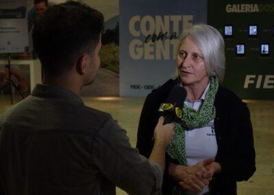 BAND Cidade entrevista Miriam Prochnow. Foto: Vitor Sá.