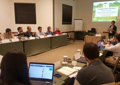 EcoAgriculture Partners apresentando suas iniciativas. Foto: Carolina Schaffer.