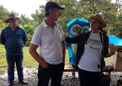 Miriam e Edegold fazem a abertura do evento. Foto: Vitor Sá.