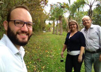 A família do Marcos também se animou a fazer a da Trilha da Restauração. Foto: Marcos Alexandre Danielli.