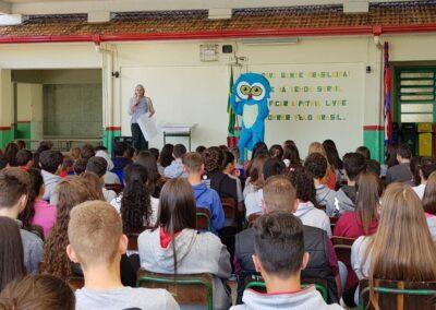 Lançamento do Cartaz Aves de Atalanta com a presença da Muru, mascote da Apremavi. Foto: Taís Fontavine.