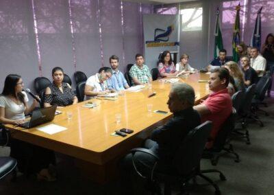 Reunião com a Prefeitura Municipal de Ponta Grossa. Foto: Edilaine Dick.