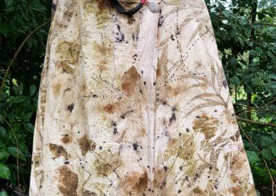 Vestido de Ecoprint da artesã Nara Guichon. Foto: Miriam Prochnow.