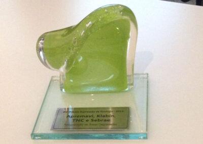 O Troféu Onda Verde. Foto: Arquivo Apremavi.