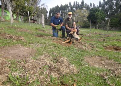 Maurício Reis, da Apremavi, e Nelson. Foto: Arquivo Apremavi.